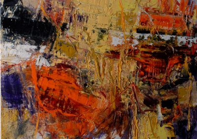 Bargoni - Aureo olio su tela - (100x110)