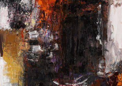 Bargoni - Il silenzio degli angeli - olio su tela (110x110)