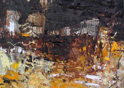 Bargoni - Ladro di oscurità- olio su tela (110x110