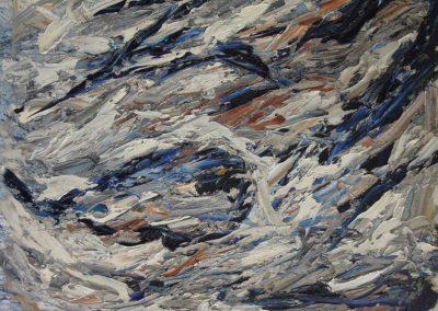Bargoni - L'alluminio del mare - olio su tela (100x120)